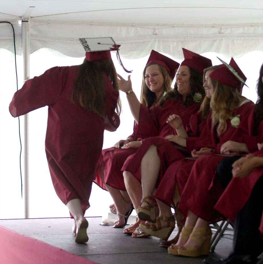 The 2014 Commencement took place at Wooster School, in Danbury, Conn, on Friday morning, June 13, 2014. The school graduated its 87th class, consisting of thirty two students, in a large white tent set up on its campus. Photo: H John Voorhees III / The News-Times Freelance