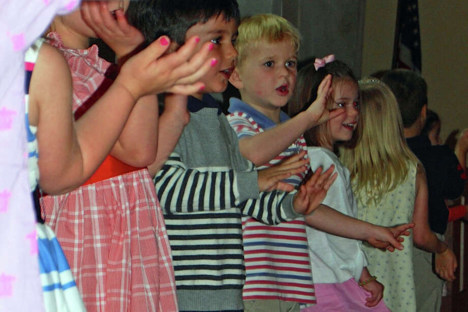 The Methodist Family Center Preschool in DarienâÄôs students performed at the recent graduation ceremony. Photo: Contributed Photo, Contributed / Darien News