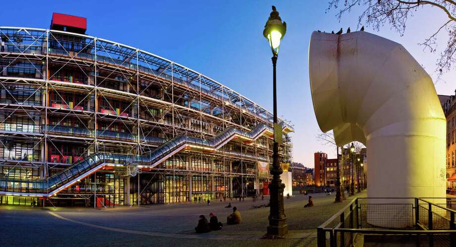 The Centre Georges Pompidou in Paris, completed in 1977, was the first building note designed by Renzo Piano. The architect he teamed with for the controversial project was England's Richard Rodgers, later a finalist in the competition to design San Francisco's new Transbay Transit Center. Photo: Sylvain Sonnet, Various / (c) Sylvain Sonnet