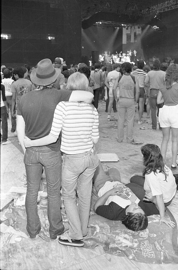 Texxas Jam at the Astrodome, June 8, 1984. Photo: Ben DeSoto, Houston Chronicle
