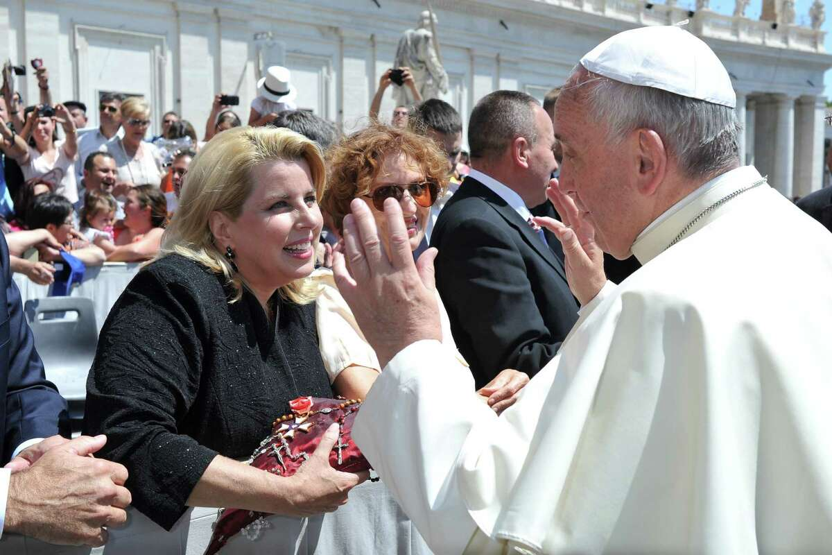 TV journalist, WABC Radio host and former Greenwich resident Rita Cosby had an audience with Pope Francis at the Vatican in Rome, recently.