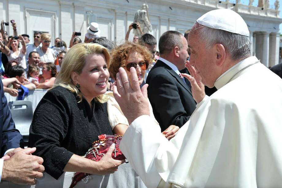 TV journalist, WABC Radio host and former Greenwich resident Rita Cosby had an audience with Pope Francis at the Vatican in Rome, recently. Photo: Courtesy Of L'Osservatore Romano, Contributed Photo / Greenwich Time Contributed