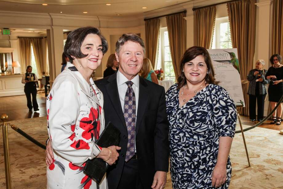 Gwen Emmett, Judge Ed Emmett with Anna Dragsbaek at the Community Immunity Spring Luncheon, April 17 2014