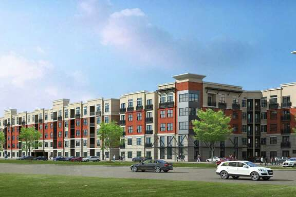 The Dinerstein Cos. is putting up this apartment project at 7600 Kirby near NRG Park. The five-story complex will have 378 units.