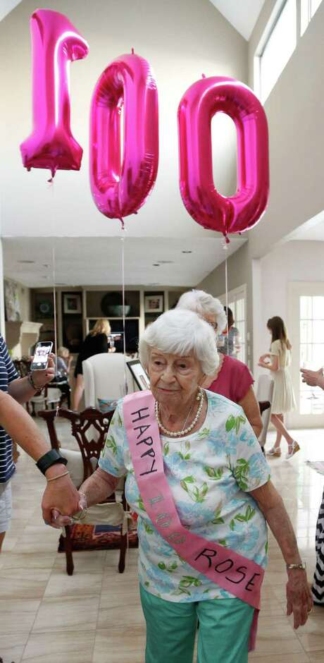 Rose Moklestad celebrated her 100th birthday at a party on June 7, 2014. Photo: Karen Warren, Staff / © 2014 Houston Chronicle