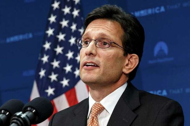 In this June 11, 2014, photo, House Majority Leader Eric Cantor, R-Va., speaks at the Capitol in Washington. Cantor's startling primary loss throws into stark relief the reason Republicans find themselves paralyzed by immigration. The policy most party leaders agree is best for the GOP's future is risky for the vast majority of House Republicans seeking re-election in the fall.  (AP Photo/J. Scott Applewhite)