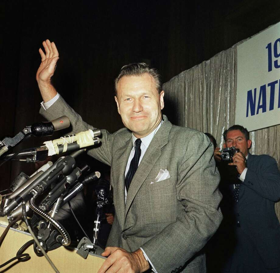 Nelson Rockefeller at convention, press conference in July 1960. (AP Photo) Photo: Anonymous, ASSOCIATED PRESS / AP1960 Associated Press