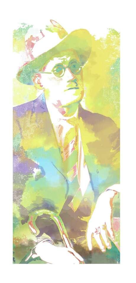 James Joyce. Robert Wuensche illustration / Houston Chronicle / handout