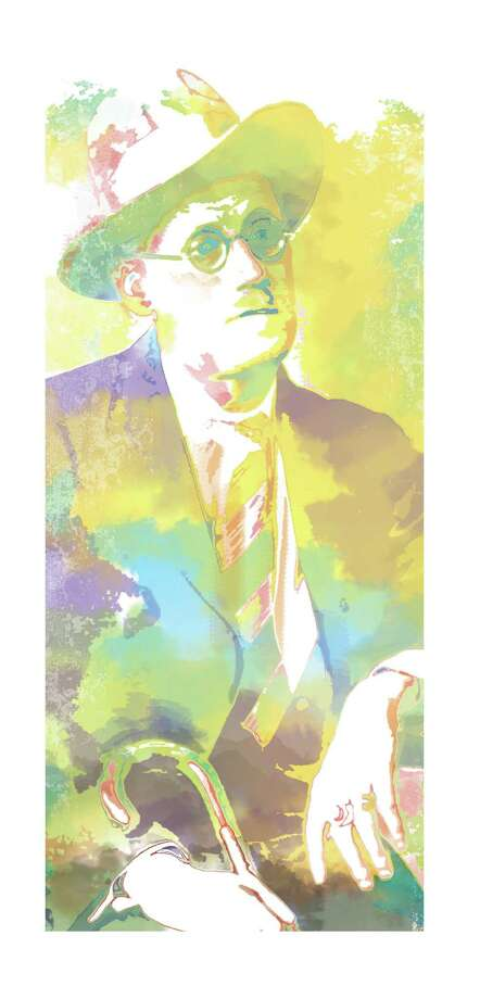 James Joyce. Robert Wuensche illustration / Houston Chronicle / handout
