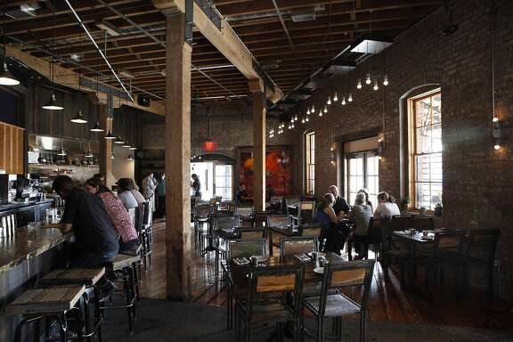 Interior view of the Dock restaurant in Oakland, CA, Tuesday June 10, 2014.