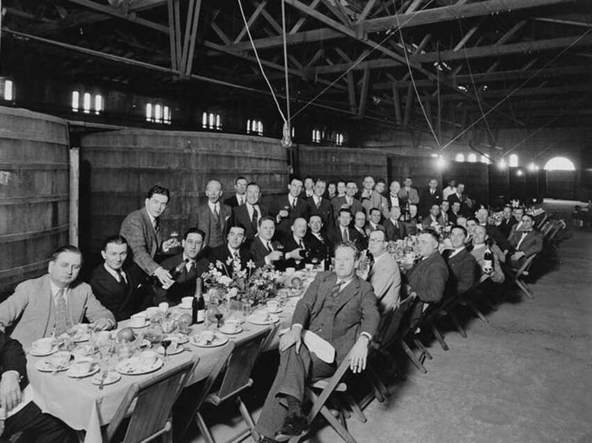 Sharing a meal at the Virginia Dare winery around 1925. Virginia Dare made a range of products that skirted Prohibition's laws.