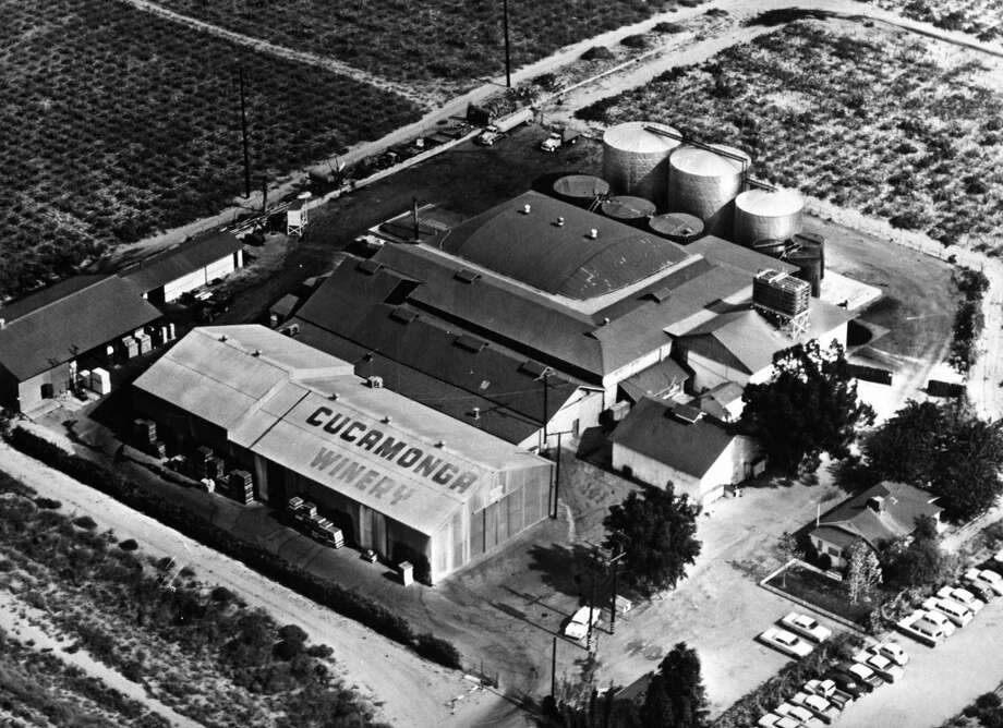 A 1962 aerial view of the Cucamonga Winery building. Photo: City Of Rancho Cucamonga