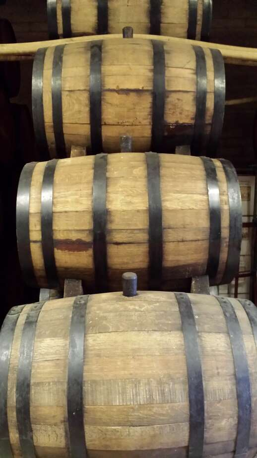 A stack of barrels at the Rancho de Philo winery in Rancho Cucamonga, Calif., part of the winery's sherry solera. Photo: Jon Bonne, The Chronicle
