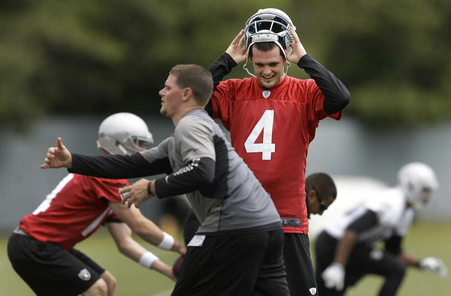Rookie quarterback Derek Carr has impressed his coaches so far with his decision making and the accuracy of his arm. Photo: Ben Margot, Associated Press