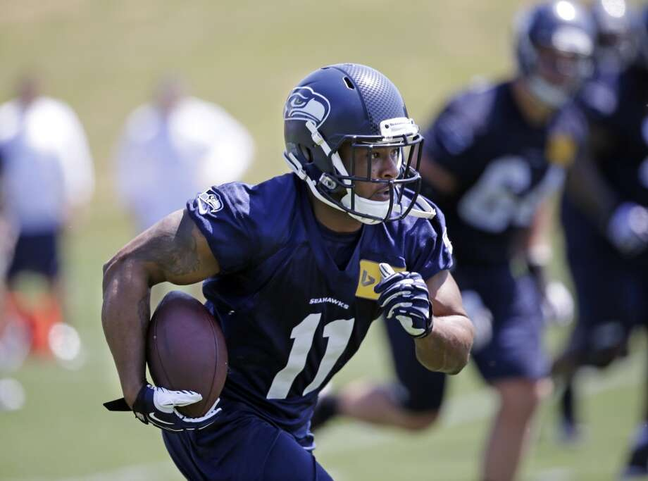 1. A healthy Harvin should make a huge impact ...This may go without saying, but we're saying it anyway: A healthy Percy Harvin will do wonders for the Seahawks' offense. Since he made such an impact during the Super Bowl, it's easy to forget he hardly played at all in 2013. Harvin was simply dynamic in OTAs, whether he was catching passes underneath, running routes down the field, or taking the ball behind the line of scrimmage on fly sweeps. If he's healthy, his presence in the lineup should add an explosive element that the Hawks lacked last season and more than make up for the absence of Golden Tate. Photo: Elaine Thompson, Associated Press