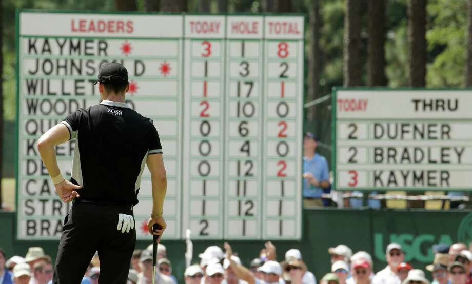 "Martin Kaymer said of his vantage point after a second consecutive 65 Friday: ""I look at the scoreboard, and it's enjoyable."" Photo: Charlie Riedel, STF / AP"