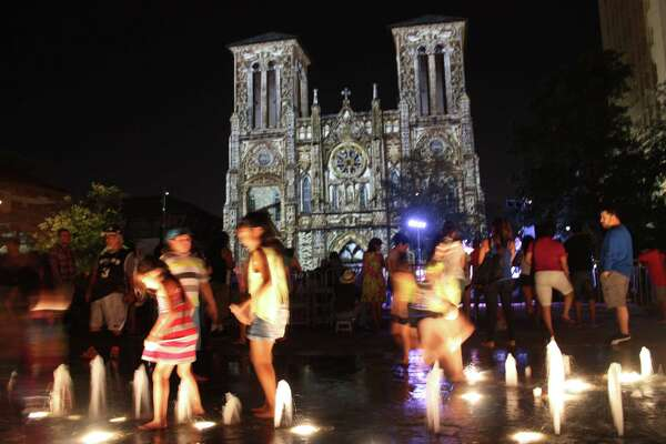 """San Antonians gathered at San Fernando Cathedral to enjoy """"San Antonio