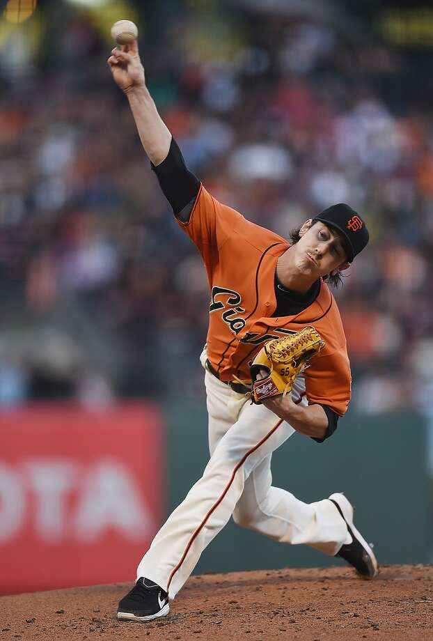 Tim Lincecum threw six innings of three-hit, two-run ball to get the Giants well on their way to victory, but Sergio Romo allowed five runs in the ninth inning for his third blown save. Photo: Thearon W. Henderson, Getty Images