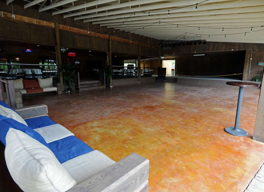 Pictured is the new dance floor and stage at the Pine Tree Lodge. Pine Tree Lodge on Taylor Bayou is the Cat5 Bar of the Week for June 5, 2014. Photo taken Friday 5/30/14 Jake Daniels/@JakeD_in_SETX