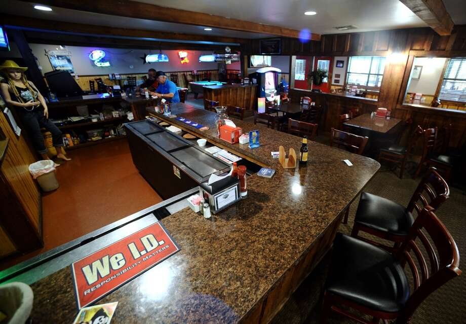 Pictured is the bar area of the Pine Tree Lodge. Pine Tree Lodge on Taylor Bayou is the Cat5 Bar of the Week for June 5, 2014. Photo taken Friday 5/30/14 Jake Daniels/@JakeD_in_SETX