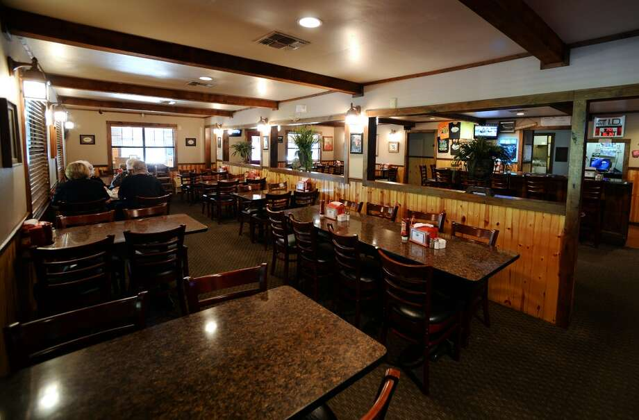 Pictured is the interior dining area of the Pine Tree Lodge. Pine Tree Lodge on Taylor Bayou is the Cat5 Bar of the Week for June 5, 2014. Photo taken Friday 5/30/14 Jake Daniels/@JakeD_in_SETX