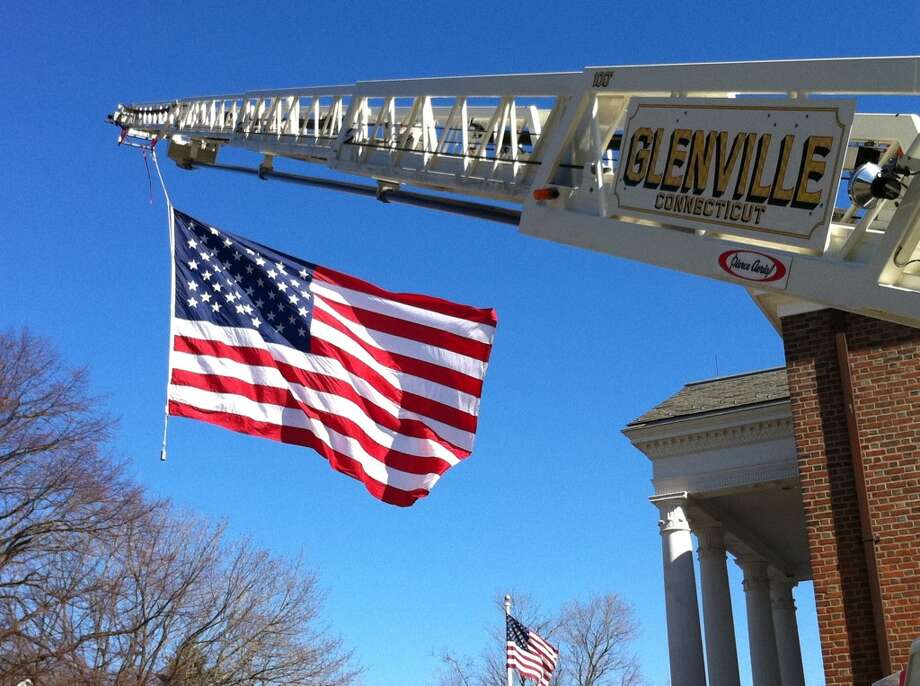 The Glenville Volunteer Fire Company's American flag is displayed at a number of important events around Greenwich.