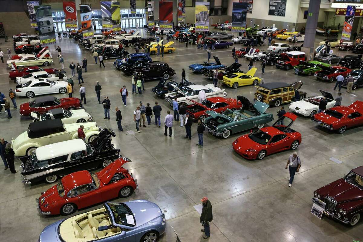 The main floor is shown with some of the hundreds of cars during the Mecum rare and collector car auction at CenturyLink Field Events Center.