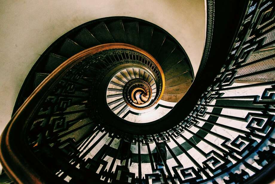 Photographer Carl Wilson captured this image from the top of the MechanicsÕ Institute Library and Chess Room located in the Financial District of San Francisco. ÒI used a wide angle lens to capture the spiral staircase. I also had to lean over the staircase to get the correct point of view.Ó Follow Carl on Instagram @sbdunkscarl and if you would like to have your photo considered for publication in the Chronicle, tag it with #howsfseessf and post it on Instagram. Photo: Carl Wilson