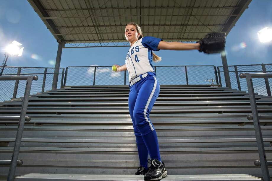 Barbers Hill pitcher Randi Rupp and her fellow seniors led the way as the Eagles advanced to the state semifinals this season. Rupp was named the Gatorade Texas Softball Player of the Year. Photo: Thomas B. Shea / © 2014 Thomas B. Shea