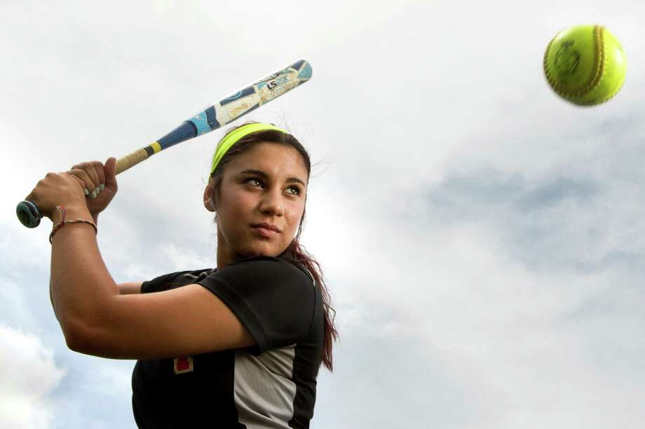 La Porte's Tori Vidales was hitting over .900 at one point during the season. She finished the year with a .750 batting average and also hit 18 home runs. Photo: Brett Coomer, Staff / © 2014 Houston Chronicle