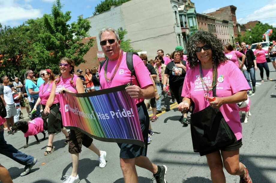 Planned Parenthood members march in the Capital Pride Parade on Saturday, June 14, 2014, in Albany, N.Y. (Cindy Schultz / Times Union) Photo: Cindy Schultz / 00027244A
