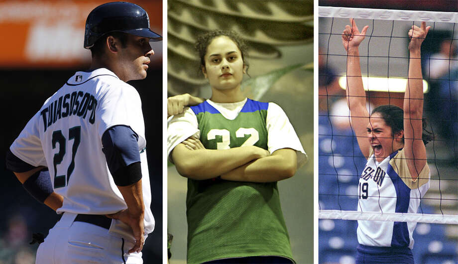 Tuiasosopo — Matt, Ashley and Leslie  Oh, but we're not done with the Tuiasosopos. Manu's three other children have also made names for themselves in Seattle sports. The oldest of the five siblings, Leslie (pictured at right), was a star volleyball player for the Washington Huskies and, later as an assistant coach, helped led the team to a national championship in 2006. She also played professionally in Spain for a year.  The youngest Tuiasosopo brother, Matt (pictured at left), is best known for his baseball career but also planned to play football at the University of Washington. The Seattle Mariners got to him first, selecting him 93rd overall in the 2004 draft. He made his MLB debut with the M's in 2008 and exceeded his rookie limits in 2010, his last year in Seattle. He played 81 games for the Detroit Tigers in 2013 after bouncing around the minor leagues, and is now playing Triple-A ball in the Toronto Blue Jays system.  Finally, the youngest sibling is Ashley (pictured at center), who played basketball and softball for Woodinville High. Playing as an outfielder from 2008 to '11, she was a member of the Washington Huskies softball team that won the national championship in 2009. She is now the JV basketball coach at her high school alma mater. Photo: Left: Brad Vest / Center: Scott Eklund / Right: Paul Joseph Brown, Seattle P-I Archives