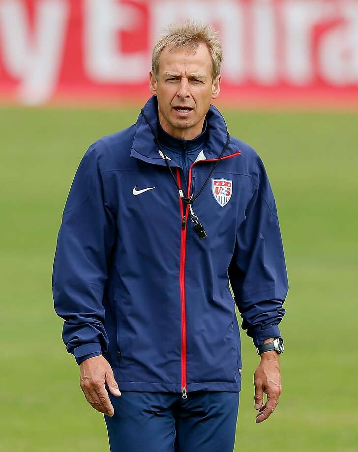 U.S. coach Jurgen Klinsmann, once a top player and coach in Germany, leads his American charges against Ghana in the teams' World Cup opener at 2:30 p.m. Monday on ESPN. The other two teams in the difficult Pool G, Germany and Portugal, open at 8:30 a.m. on ESPN. Photo: Kevin C. Cox, Getty Images