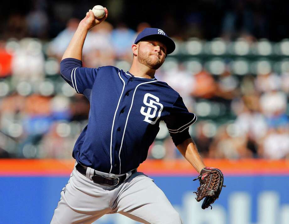 NEW YORK, NY - JUNE 14:  Jesse Hahn #45 of the San Diego Padres pitches in the first inning against the New York Mets at Citi Field on June 14, 2014 in the Flushing neighborhood of the Queens borough of New York City.  (Photo by Jim McIsaac/Getty Images) ORG XMIT: 477584971 Photo: Jim McIsaac / 2014 Getty Images