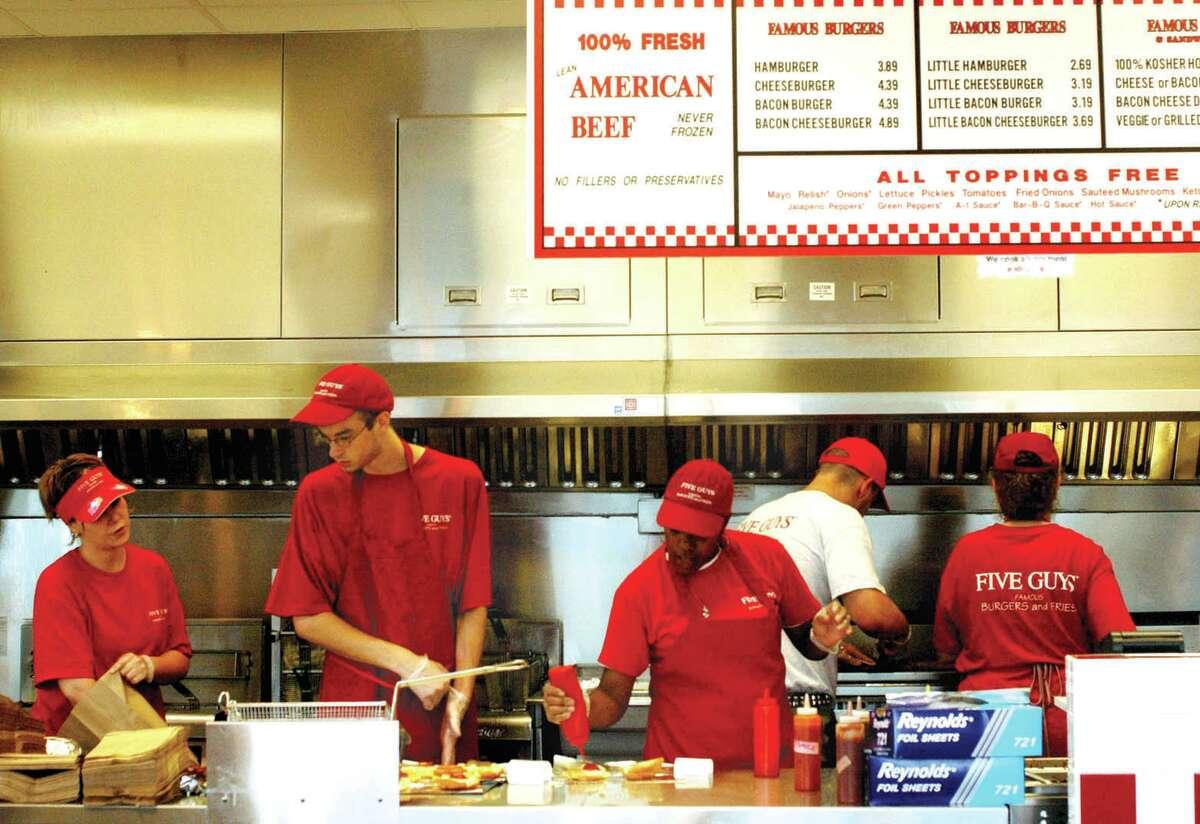 1. Five Guys Burgers & Fries , various locations