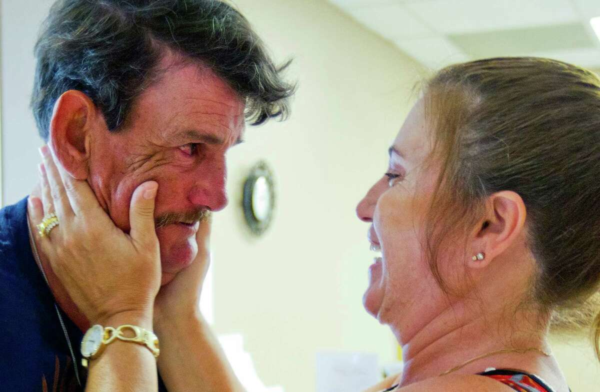 """""""I'm sorry. I'm sorry,"""" Carbonneau whispers tearfully to his sister, apologizing for causing her years of pain and heartache. It's a journey, she told him as they hugged before his baptism at Parkway United Methodist Church in Sugar Land on a Sunday last month."""