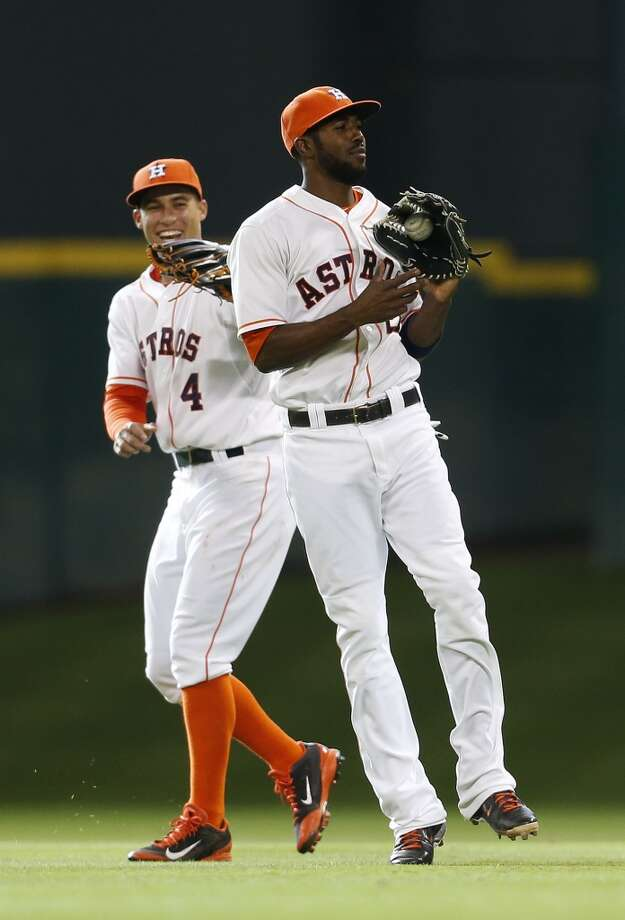 June 14: Astros 7, Rays 3Jarred Cosart and Matt Dominguez did the heavy lifting as the Astros topped the Rays to even their three-game series.  Record: 32-38. Photo: Karen Warren, Houston Chronicle