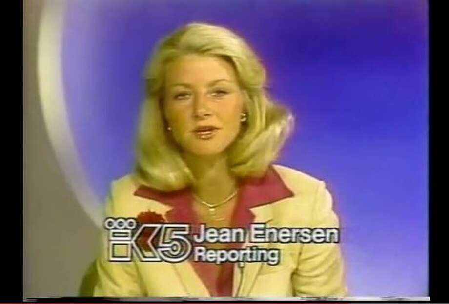 Seattle's reigning anchorwoman Jean Enersen stepped down from the KING/5 evening anchor desk in June, after delivering the news to local viewers for 42 years. Enersen was the first female anchor in the country. She's pictured anchoring the news in 1979, from a broadcast you can watch on YouTube here. Photo: Shocccker, YouTube