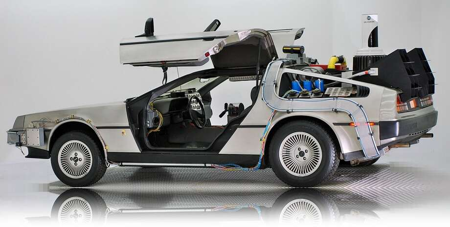 "The ""Back to the Future"" DeLorean Time Machine is now parked at the Volo Auto Museum. Photo: Courtesy Photo, Volo Auto Museum"