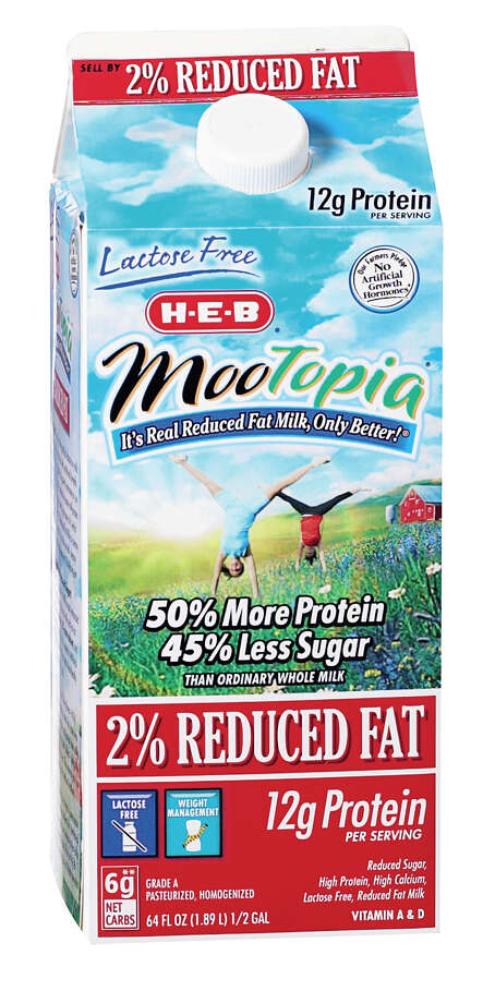 H-E-B worked with farmers to create  MooTopia, a lactose-free milk that boosts protein and cuts sugar. MooTopia has proved so popular that distributors have asked if H-E-B would sell the product to other chains, said Bob McCullough, senior vice president. Photo: Courtesy