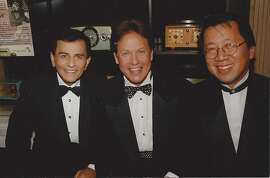 Casey Kasem, Rick Dees and me at the Radio Hall of Fame in Chicago, in 1999.  Kasem died June 15, 2014