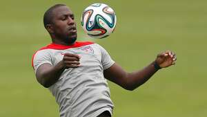 SAO PAULO, BRAZIL - JUNE 11:  Jozy Altidore of the United States runs drills during their training session at Sao Paulo FC on June 11, 2014 in Sao Paulo, Brazil.  (Photo by Kevin C. Cox/Getty Images)