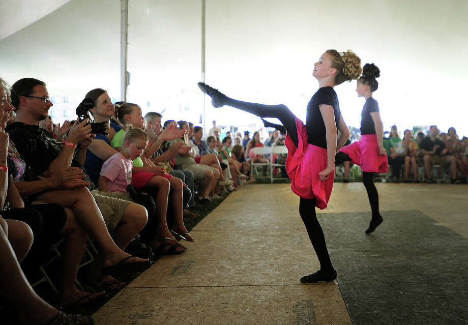 Dancers from the Lenihan School of Irish Dance perform in the Main Tent at the annual Fairfield County Irish Festival at Fairfield University in Fairfield, Conn. on Sunday, June 15, 2014. Photo: Brian A. Pounds / Connecticut Post