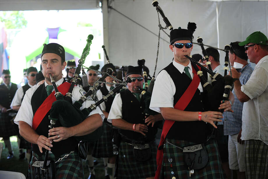 The Fairfield Gaelic Pipe Band performs at the annual Fairfield County Irish Festival at Fairfield University in Fairfield, Conn. on Sunday, June 15, 2014. Photo: Brian A. Pounds / Connecticut Post