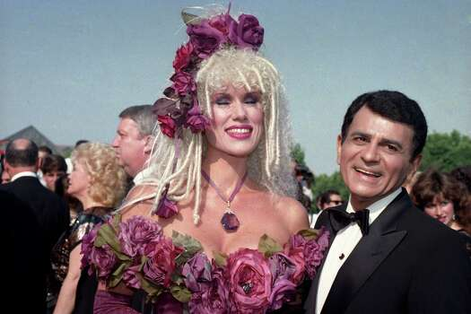 FILE - In this Sept. 20, 1987 file photo, Casey Kasem, along with his wife Jean Kasem arrives at the Emmy Awards in Los Angeles. Kasem, the smooth-voiced radio broadcaster who became the king of the top 40 countdown, died Sunday, June 15, 2014, according to Danny Deraney, publicist for Kasem's daughter, Kerri. He was 82. Photo: File, AP / AP