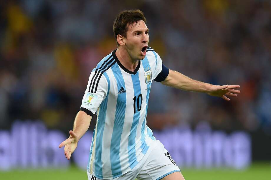 Argentina striker Lionel Messi gets the monkey off his back, scoring his second World Cup goal and first in eight years - he was shut out in South Africa in 2010. Photo: Matthias Hangst, Getty Images
