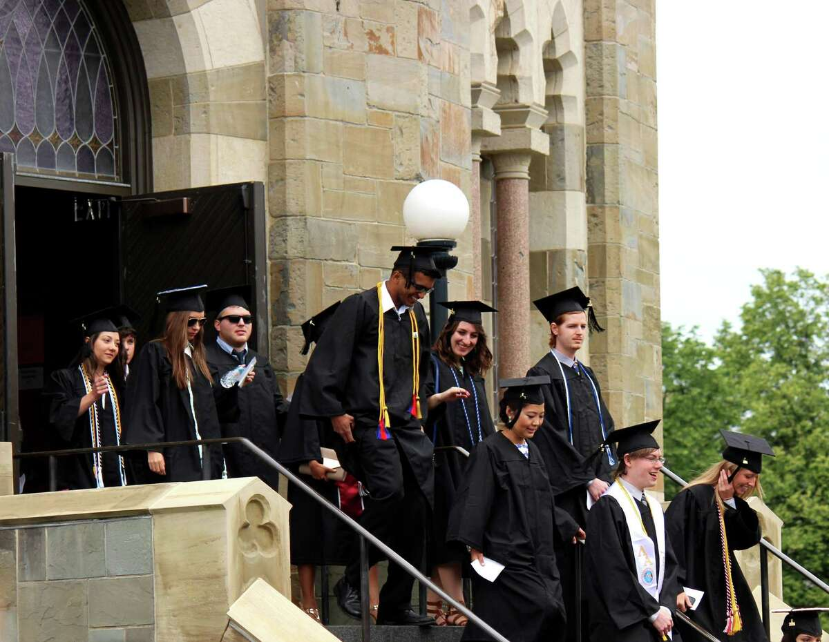 Union College Class of 2014 at their graduation ceremony on Sunday, June 15, 2014 at Union College in Schenectady N.Y. (Selby Smith / Special to the Times Union)