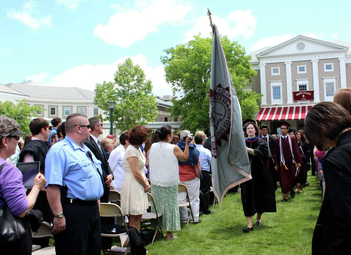Recessional at the Union College graduation ceremony on Sunday, June 15, 2014 at Union College in Schenectady N.Y. (Selby Smith / Special to the Times Union)