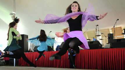 Dancers from the Lenihan School of Irish Dance perform in the Main Tent at the annual Fairfield County Irish Festival at Fairfield University in Fairfield, Conn. on Sunday, June 15, 2014.
