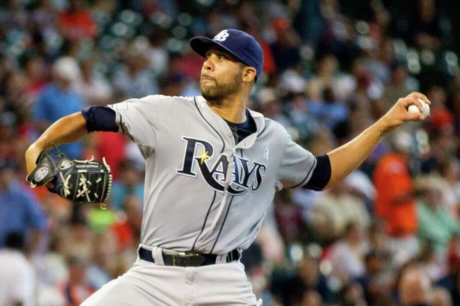 After allowing a pair of early homers, Tampa Bay's David Price recovered to strike out 10 Astros. Photo: Bob Levey / Getty Images / 2014 Getty Images
